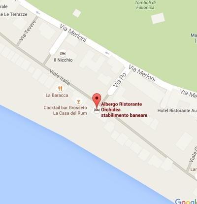 Hotel Orchidea Mappa di Google