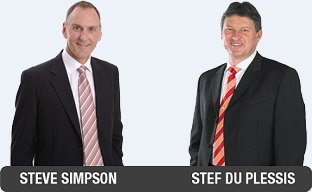 Steve Simpson and Stef Du Plessis