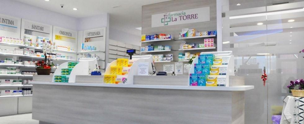 Bancone farmacia
