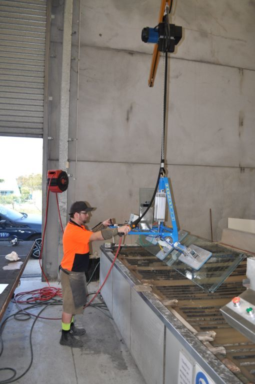 Lifting a heavy drum with one of our lifting solutions in New Zealand