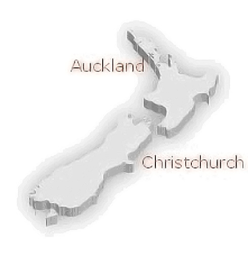 A map of NZ