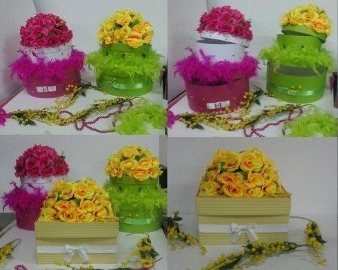 scatole fiorite