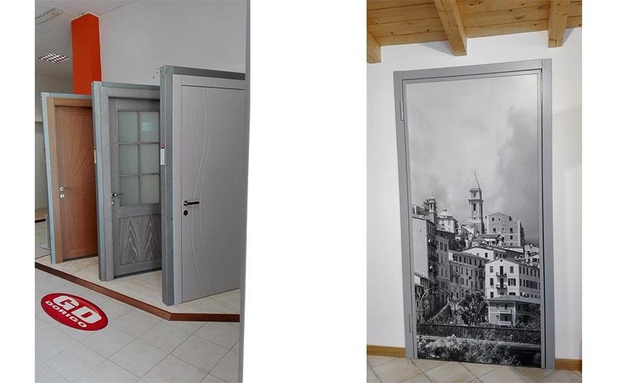 Porte stampate e decorate in legno