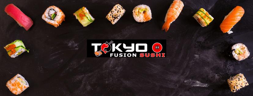 Sushi e logo Tokyo Fusion Sushi
