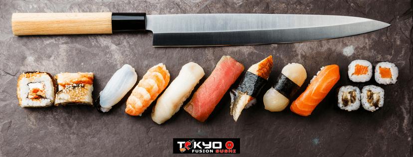 Coltello e sushi