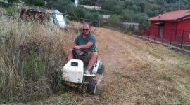 Pulizia terreno agricolo con mezzo meccanico