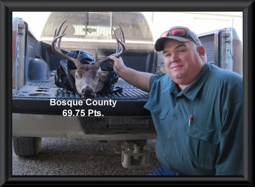 Monty Cook at 10th position in the big buck contest 2014 in Clifton, TX