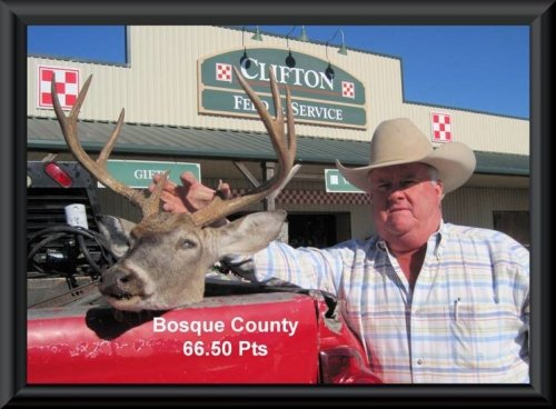 Clayton Reinhart at 23nd position in the big buck contest 2014 in   Clifton, TX
