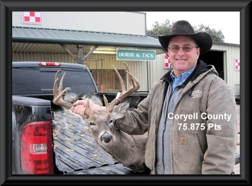 Anthony Anderson at 4th position in the big buck contest 2014 in Clifton,   TX