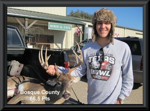 Constant's buck head loaded in his truck at the big buck contest 2014 in Clifton, TX