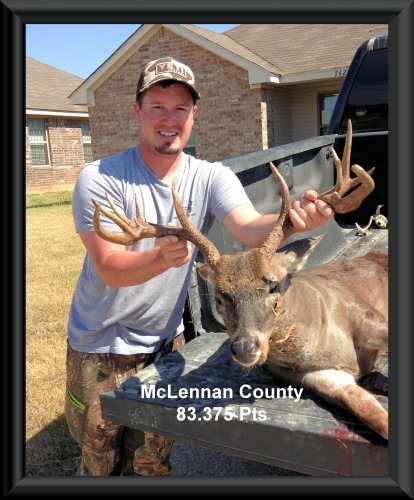 Bret Poston second position in the big buck contest 2015 in Clifton, TX