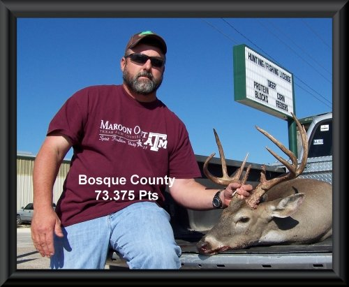 Keith Kellum 8th position in the big buck contest 2015 in Clifton, TX