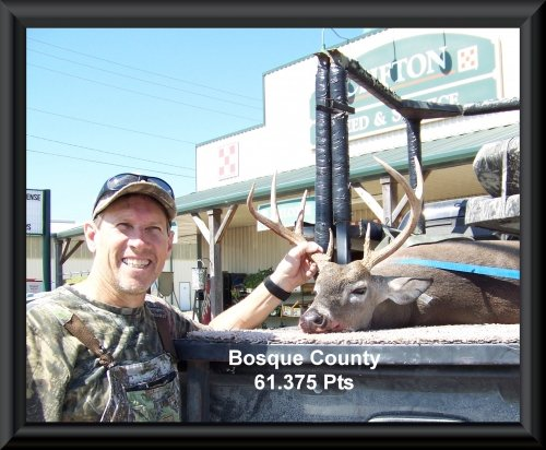 Dr. William Mitchell 19th position in the big buck contest 2015 in Clifton, TX