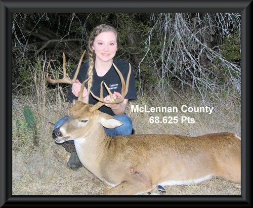 Kyndall Kimbrough 12th position in the big buck contest 2015 in Clifton, TX