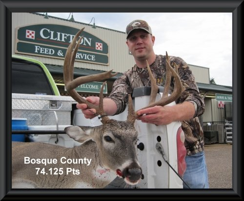 Aaron Maler 7th position in the big buck contest 2015 in Clifton, TX