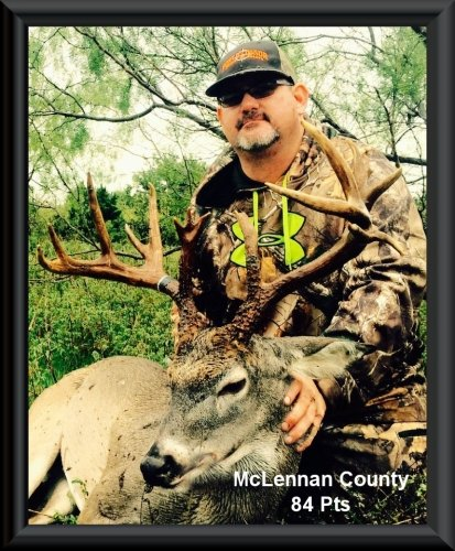Mark Southern 1st position in the big buck contest 2015 in Clifton, TX