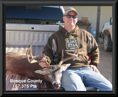 Chad peacock 14th position in the big buck contest 2015 in Clifton, TX