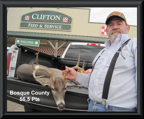 Jerry Noel at 22nd position in the big buck contest 2015 in Clifton, TX