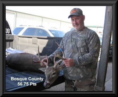 Craig Slaughter at 21st position in the big buck contest 2015 in Clifton, TX