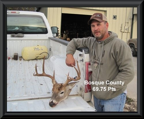 Bryan Prescher at 10th position in the big buck contest 2015 in Clifton, TX