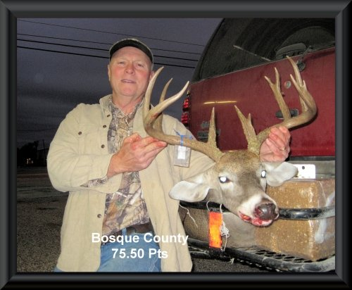Jim Cosper at 4th  position in the big buck contest 2015 in Clifton, TX