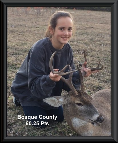 Brianna Prescher at 20th position in the big buck contest 2015 in Clifton, TX