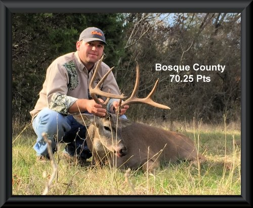 Joey Cross at 9th position in the big buck contest 2015 in Clifton, TX