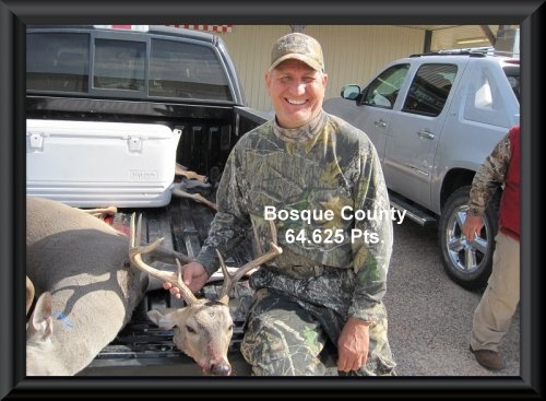 Contestant with the buck at the 2014 Big Buck contest in Clifton, TX