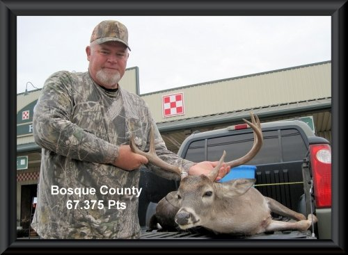 Eugene Blanton at 20th position in the big buck contest 2014 in Clifton,   TX