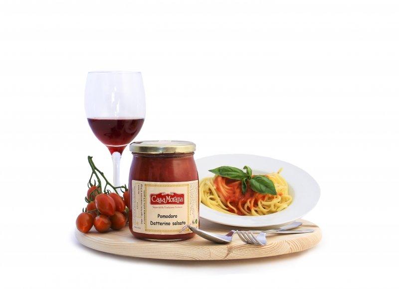 Spaghetti con il pomodoro datterino salsato a Zibido San Giacomo