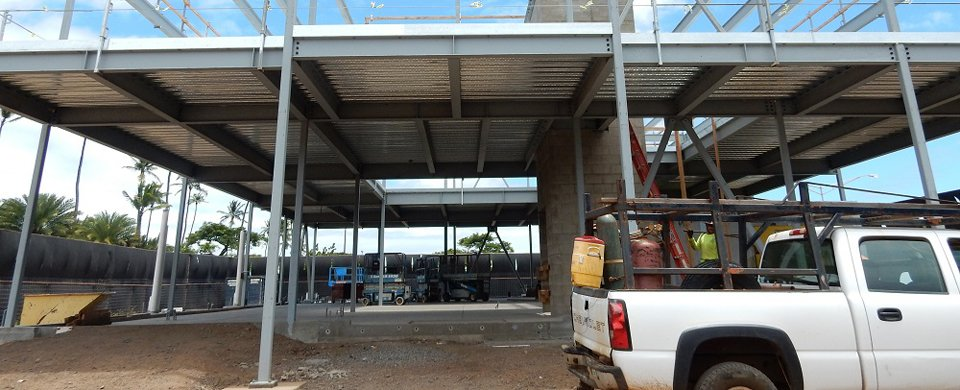 Parking area constructed by general contractors in Kahului, HI