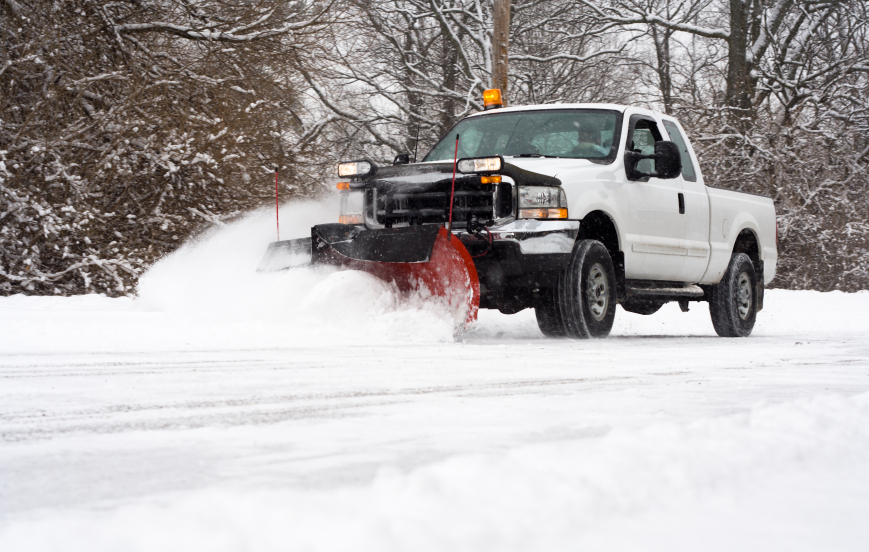 Commercial Snow removal by R & S Hardscaping