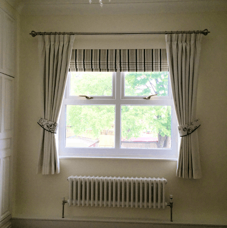 tied curtains