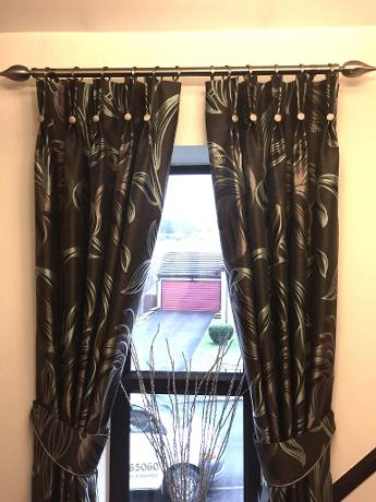 long and stylish curtains