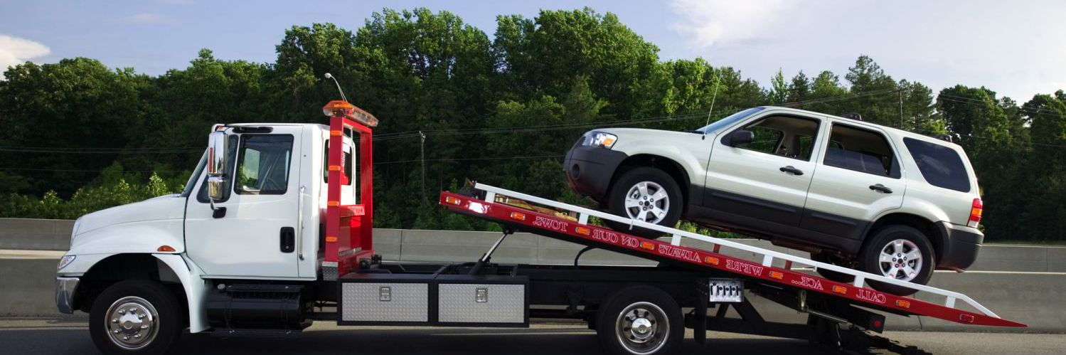 SUV receiving automotive towing in Lake Havasu City, AZ