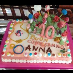torta decimo compleanno