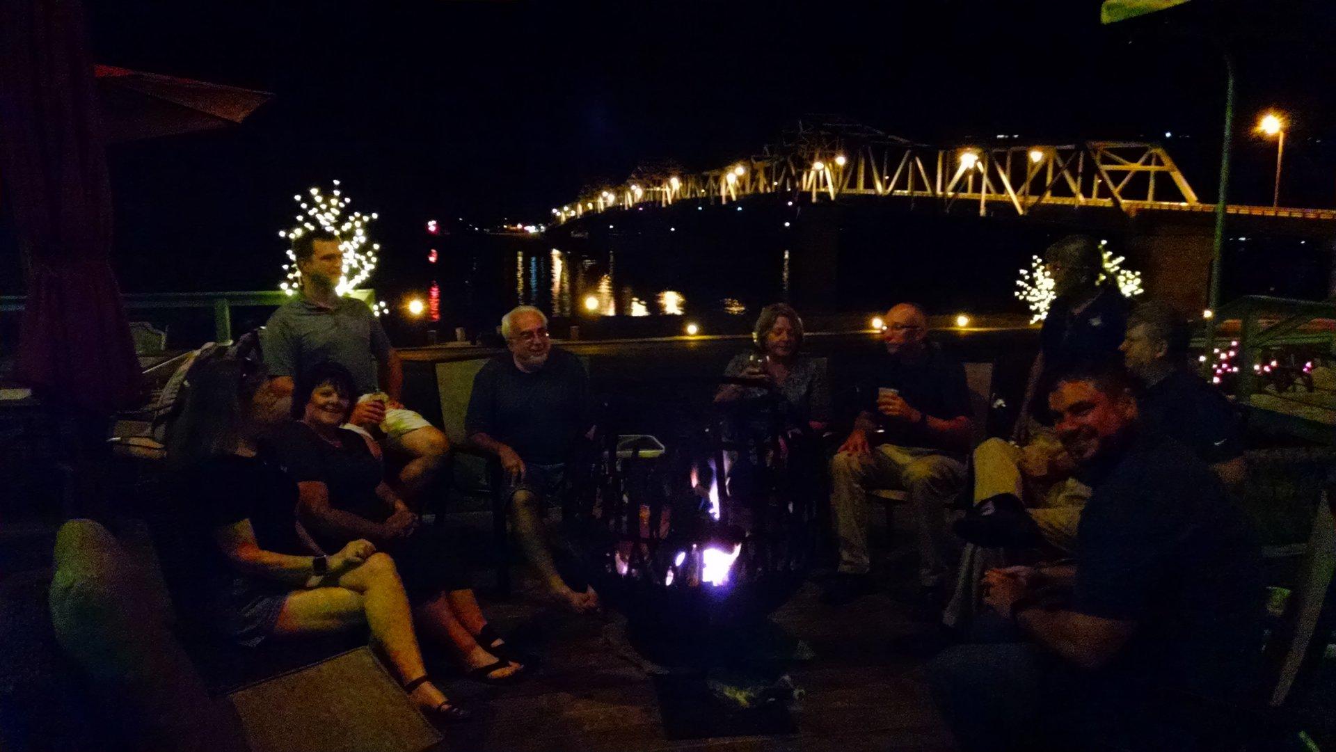 Firepit at Riverboat Inn & Suites