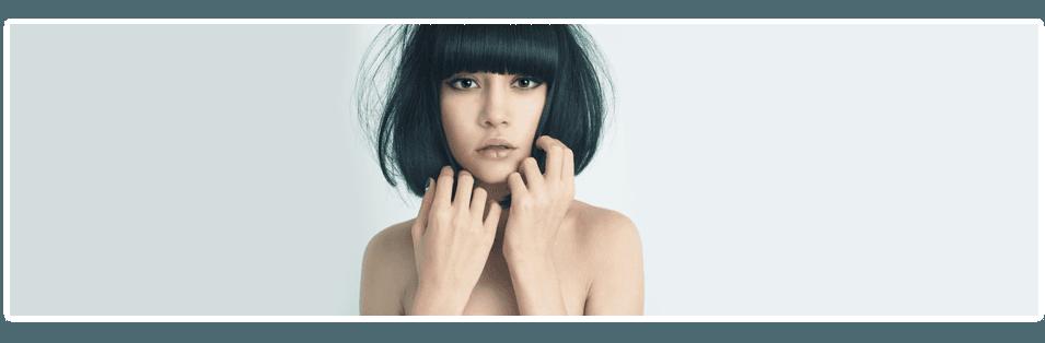 A girl with black hair