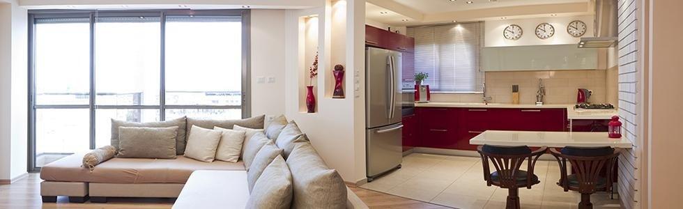 due ambienti salotto e cucina