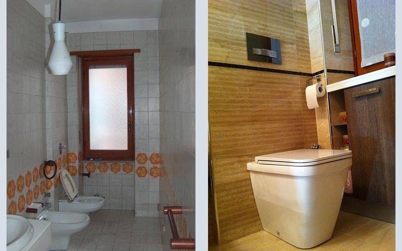 due diversi tipi di bagno