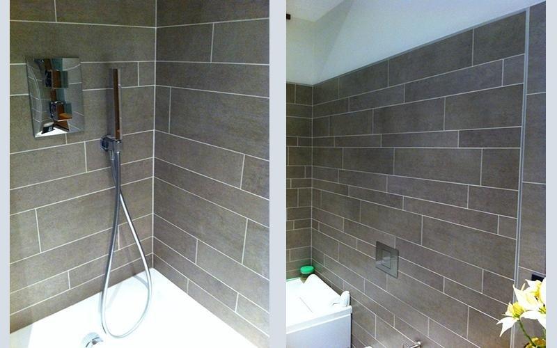 vasca da bagno con spinello per doccia
