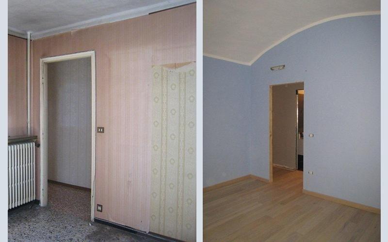 prima e dopo una ristrutturazione