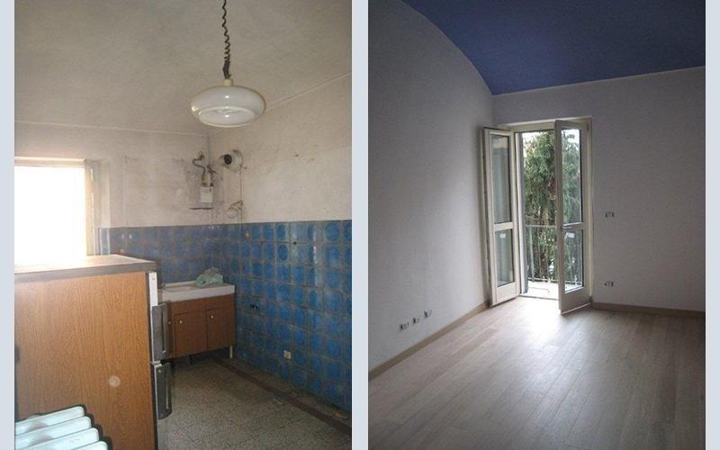 ristrutturazione di una cucina prima e dopo