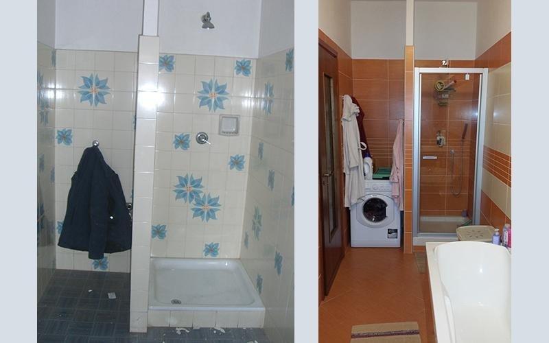 Rifacimento bagno e arredamento della parete