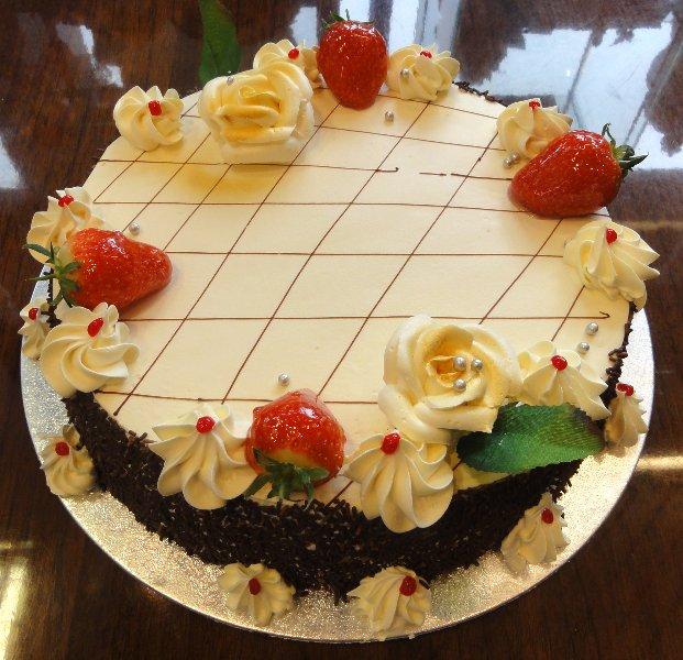 chequered  cake