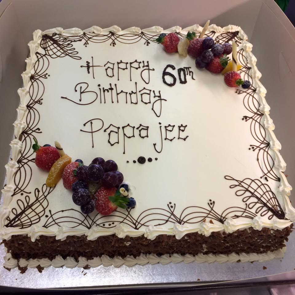 papa at 60 cake