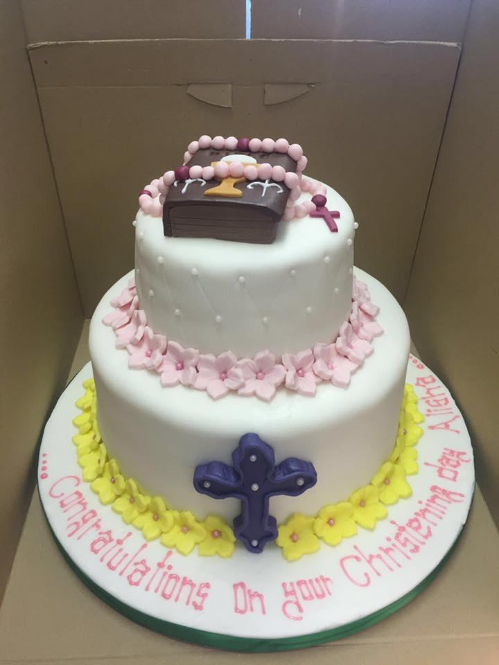 christening cake icing