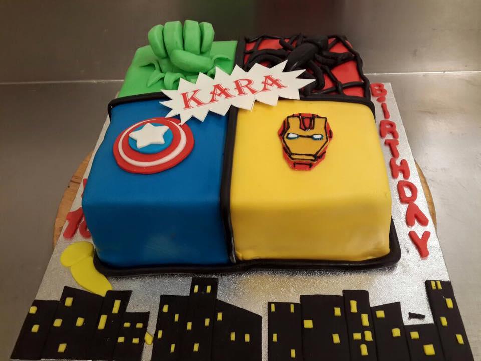marvel cake  icing