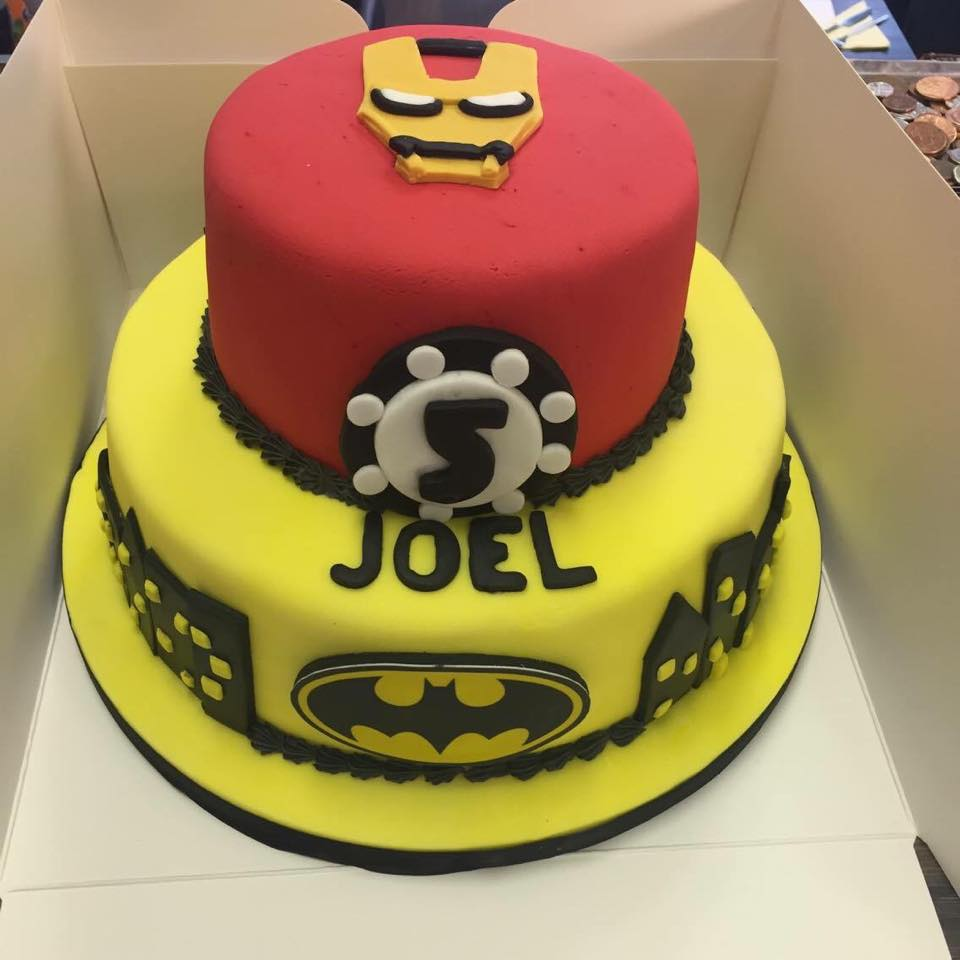 yellow and red cake