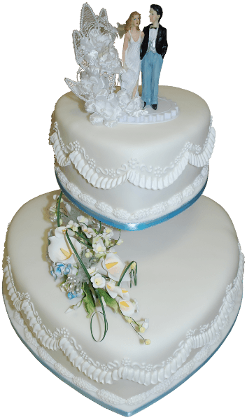 doll two tier wedding cake